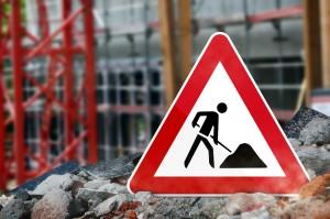 Baustellenschild